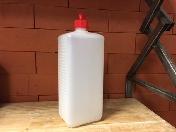 Dosierflasche eckig PE 1000 ml